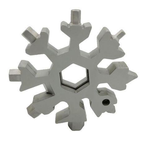 18 in 1 Snowflake Multi-tool Pocket Tool Spanner Hex Wrench Silver