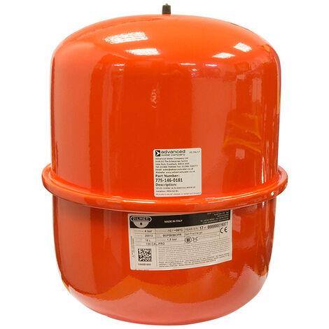 18 Litre Zilmet Cal-Pro Red Heating Expansion Vessel - ZI-301018