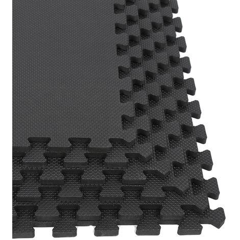 18 Pièces Tapis d'exercice avec Dalles Emboîtables en Mousse EVA Tapis de Gym Sport Yoga 63cm x 63cm