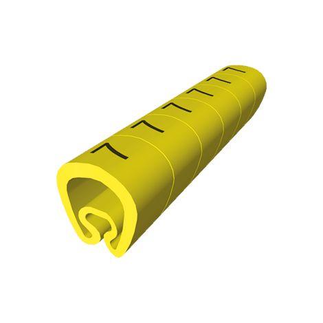 18 Señalizadores precortados amarillo Ø5 PVC plastificado UNEX 1811--