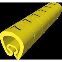 18 Señalizadores precortados amarillo Ø8 PVC plastificado UNEX 1812-+