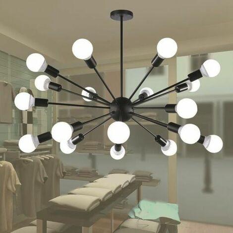 18 Tête Plafonnier Industriel Lustre E27 Chandelier Abat-jour Plafond Luminaire Lampe