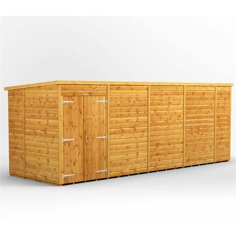 """main image of """"18 x 6 Premium Tongue and Groove Pent Shed - Double Doors - Windowless - 12mm Tongue and Groove Floor and Roof"""""""