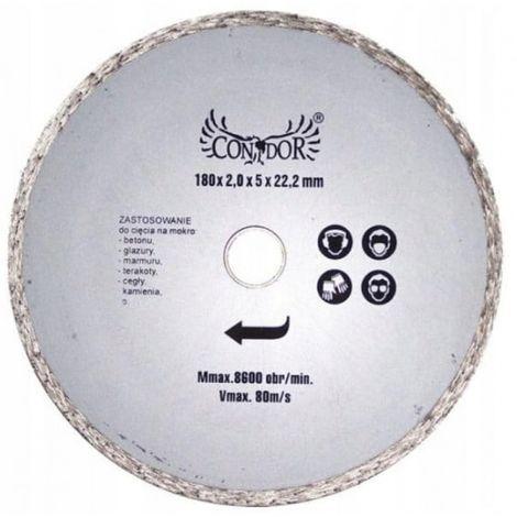180 _0 disco de corte de diamante húmedo completo