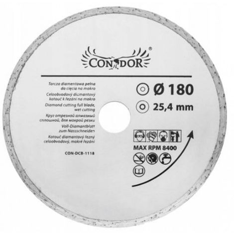 180 _1 disco de corte de diamante húmedo completo