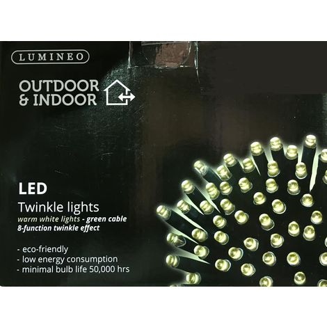 180 Multi Function LED Christmas Lights - Warm White