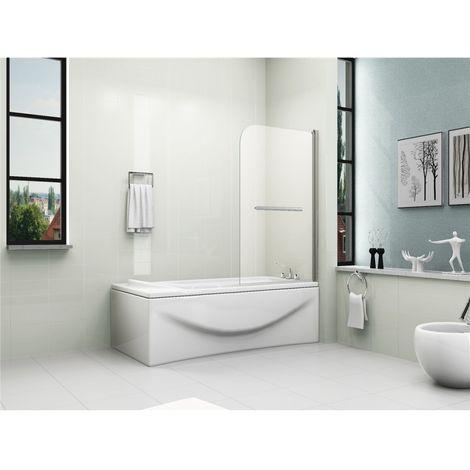 "main image of ""180° Pivot Bath Shower Screen Door Panel 6mm Glass"""