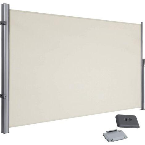 """main image of """"180 x 350cm Toldo lateral para balcón y terraza, Protección de la intimidad, Protección solar, Persiana lateral, Beige/ Gris antracita"""""""