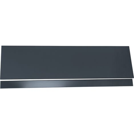 1800 Grey Gloss Bath Front Panel