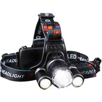 1800 Lumens Bright Headlight Headlamp Flashlight Suit T6 led for Camping, Hunting, Cycling