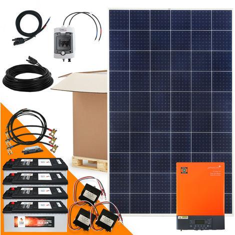 1800 Watt Solaranlage Hybridset einphasig mit 4 KWh Solarspeicher netzunabhängig