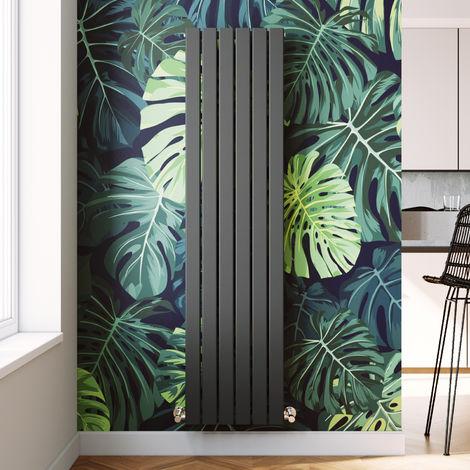 1800 x 452mm Vertical Radiator Designer Double Oval Column Radiators Bathroom Flat Panel, Anthracite