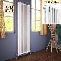 1800 x 560 mm Traditional Vertical Radiator Cast Iron Double Panel Designer Radiators Central Heating UK
