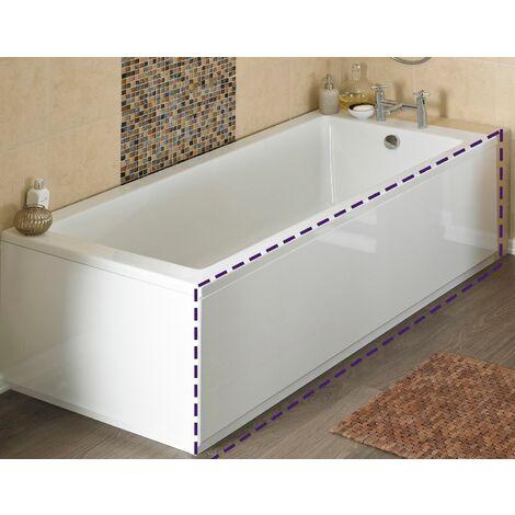 1800mm Modern White MDF Front Bath Panel