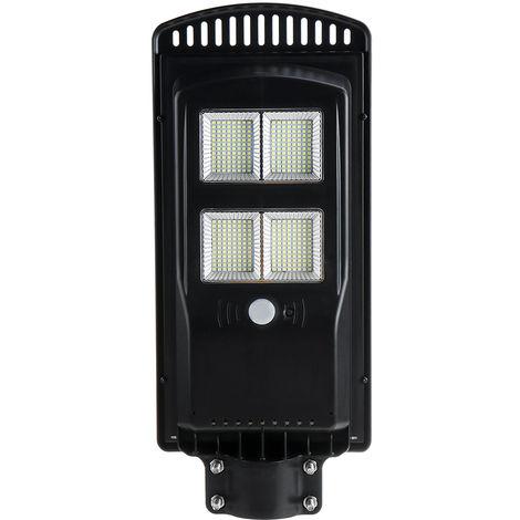 1800W 384 LED Lampe solaire de jardin de capteur de mouvement PIR de lampadaire mural + IP65 à distance