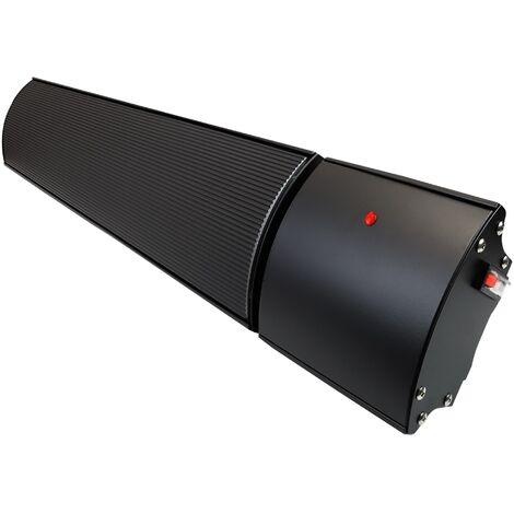 1800w Helios Infrared Bar Heater Black