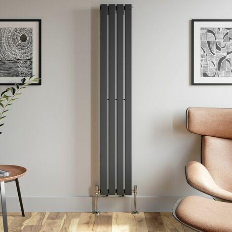 1800x300mm Anthracite Designer Radiator Vertical Flat Panel Single Panel Rad