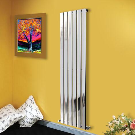 1800x408 Vertical Flat Panel Radiator Bathroom Central Heating Radiators Single Column Chrome