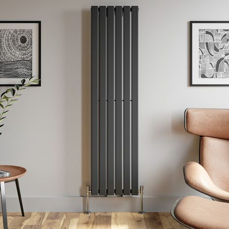 1800x452mm Anthracite Designer Radiator Vertical Flat Panel Single Panel Rad