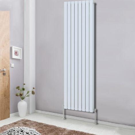 1800x544 Tall Vertical Column Designer Radiator Flat Double Panel Bathroom Heater Central Heating White