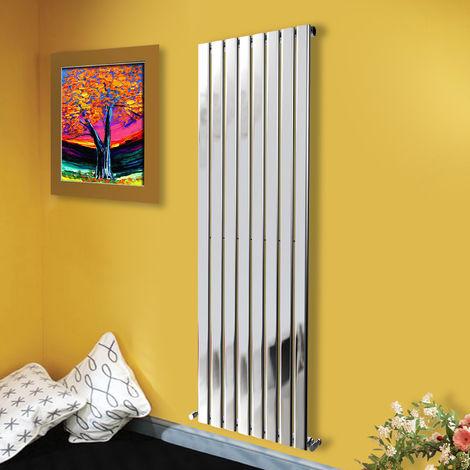 "main image of ""1800x544 Vertical Flat Panel Radiator Bathroom Central Heating Radiators Single Column Chrome"""