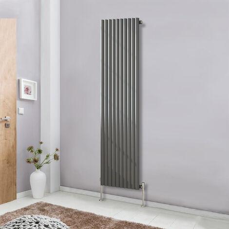 1800x590 Vertical Single Panel Oval Column Designer Radiator Anthracite Bathroom Heater Central Heating