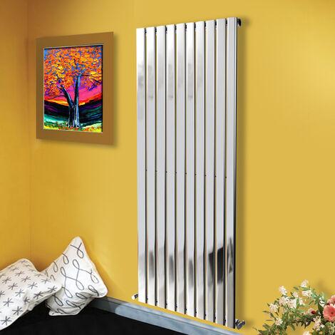 1800x680 Vertical Flat Panel Radiator Bathroom Central Heating Radiators Single Column Chrome