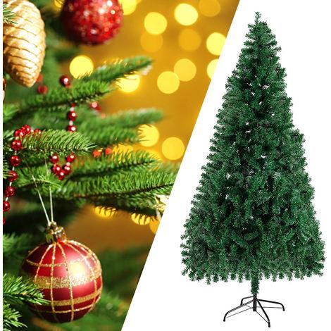 180cm Arbre de Noël sapin artificiel décoratif vert