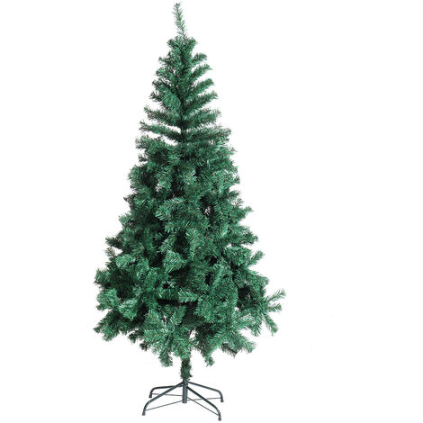 180cm Christmas Tree Artificial Decoration Full Tree with Solid Metal Stand 6ft 650tips