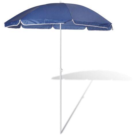 180cm Parasol de plage bleu