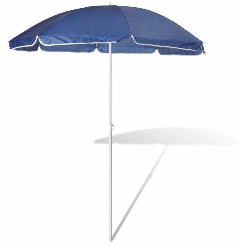 180cm Parasol de plage bleu HDV26225