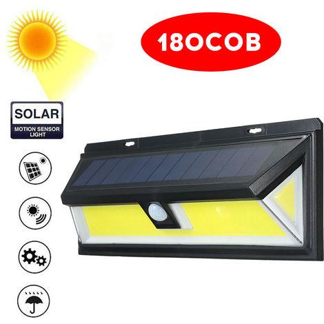 180COB Solar Energy Wall Lamp Motion Sensor Waterproof Outdoor Garden Night Light