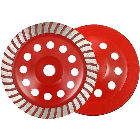 180mm Grinding Wheel Thickened Diamond Grinding Wheel Aperture 22mm Red