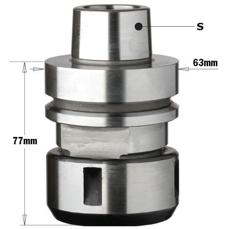 """183.320 HSK CHUCK FOR """"DIN6388"""" PRECISION COLLET"""
