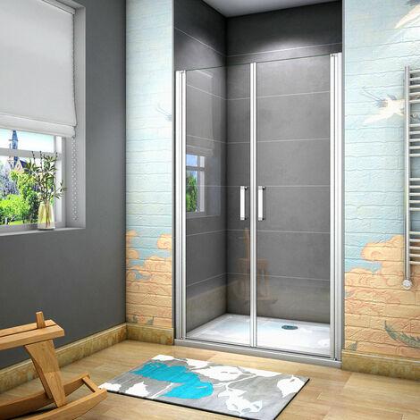 """main image of """"185 cm Box doccia per Nicchia Porta Battente 2 Ante Saloon Cristallo Temperato 5 mm Trasparente Profilo in Alluminio Processo di Elettroforesi"""""""
