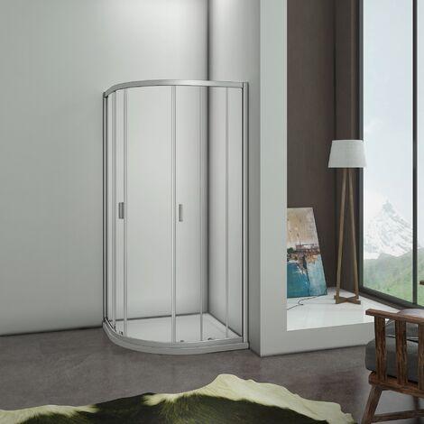 1850H Walk In Quadrant Shower Enclosure Corner Glass Door Screen Cubicle
