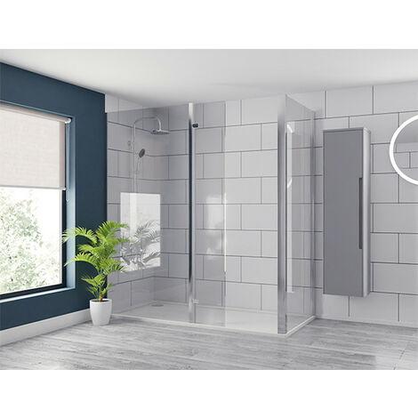 1850mm x 1200mm Walk In Glass Shower Screen 8mm