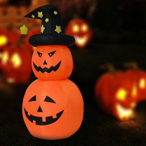 1.8M Inflatable Rotating Pumpkin Halloween Decoration Light Up Out/Indoor