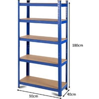 1.8M Metal Shelving Rack 5 Layer Industrial Boltless Heavy Duty Garage Unit