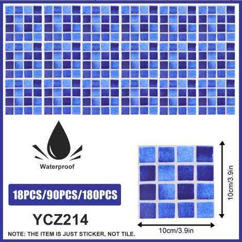 18PCS 10*10CM Autocollants de carrelage salle de bains cuisine mosa?que auto-adhésif décoration murale YCZ214