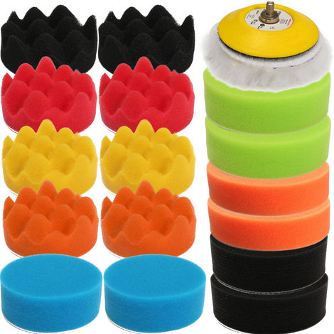 18Pcs 80mm Sponge Sanding Polishing Waxing Polisher Pad Cleaning Car Wash Hasaki