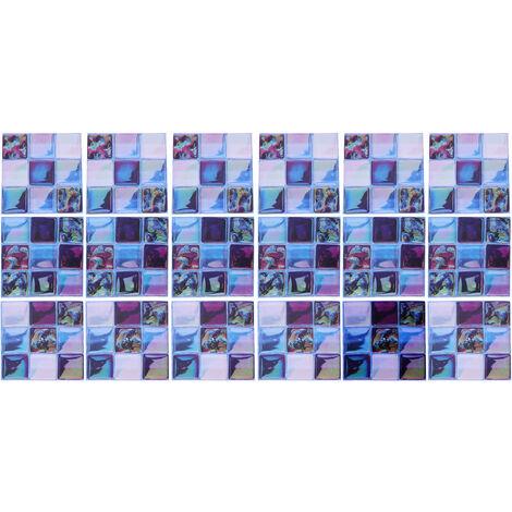 18pcs Cocina Azulejos Pegatinas Pared Baño Hogar Decoración autoadhesiva 10x10cm