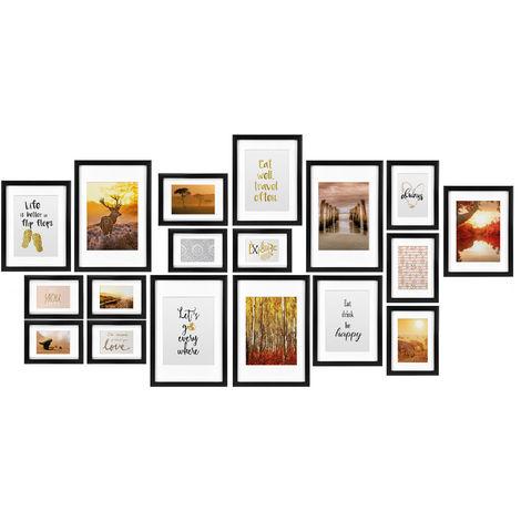 Wandgalerie 6 Bilder weiß Wand Bilderrahmen Rahmen 10x15 cm 9x13 cm Fotorahmen