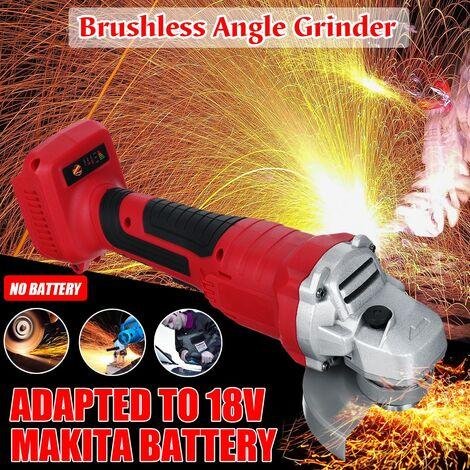 18V 800W 100mm Cordless Impact Angle Grinder Brushless Battery Free DIY Power Tool Cutting Machine Polisher Fr Makita Battery