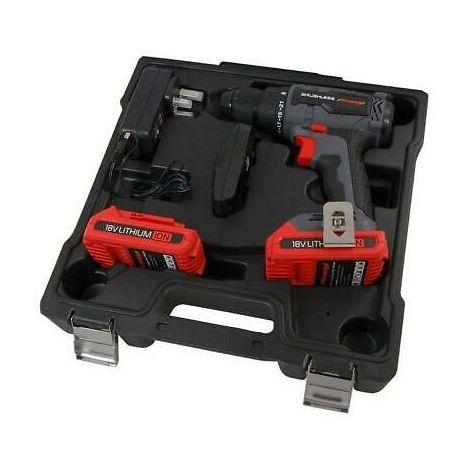 18v Brushless Motor Cordless Drill. 2 Batteries