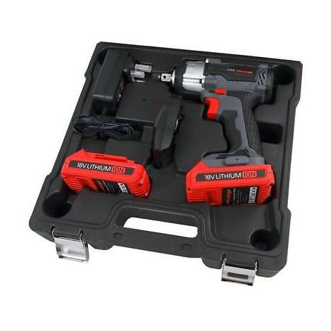 18v Li-ion Cordless Impact Gun Wrench 350Nm 2 Batteries