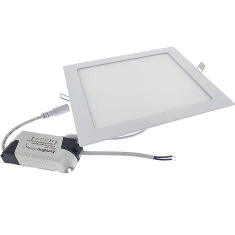 18W Panel LED empotrable - Cuadrado 3000K 225x225