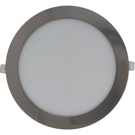 18W Panel LED empotrable - Redondo 4000K Cromo Ø225