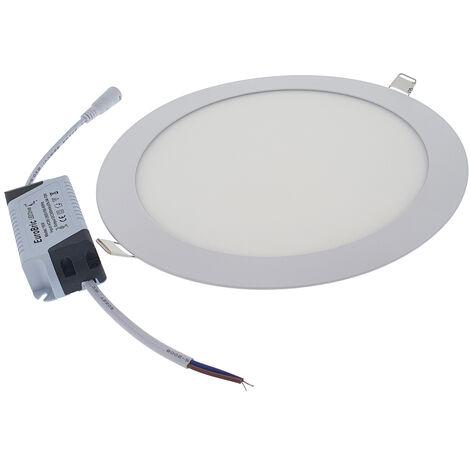 18W Panel LED empotrable - Redondo 6400K Ø225