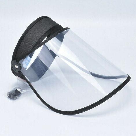 18x18x10cm Visera protectora mascarilla facial transparente negro